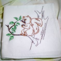Embroidered Squirrel