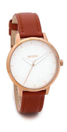 Nixon Kensington Leather Watch | SHOPBOP SAVE UP TO 25% Use Code:GOBIG15
