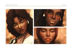 Sims 4 Cc Finds, Make Up Collection, Sims 4 Custom Content, Eyeshadow, Lipstick, Mini, Makeup, Artwork, Summer