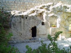 The Garden Tomb where Jesus' body is assumed to have been buried...but it's no longer there!
