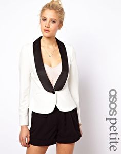 Image 1 of ASOS PETITE Exclusive Blazer with Contrast Lapels