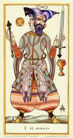 I - El Mago - Tarot de Alexander Daniloff