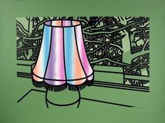"""Patrick Caulfield (English, b. """"Lamp and Pines,"""" Indianapolis Museum of Art, Gift of Mr. Eugene Judd, © Artists Rights Society (ARS). James Rosenquist, Indianapolis Museum, Claes Oldenburg, Jasper Johns, Painting Still Life, Art Database, Photorealism, Vintage Lamps, Global Art"""