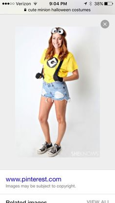 38 Last-Minute Halloween Costumes You Can Quickly DIY. Bets DIY Halloween costume ideas for adults. Creative costume design for girls and boys. Best Halloween party costume for women. Halloween costume for men. Homemade Halloween costume ideas for girls. Cute Halloween Costumes For Teens, Minion Halloween Costumes, Best Friend Halloween Costumes, Hallowen Costume, Halloween 2018, Last Minute Halloween Costumes, Costume Ideas, Friend Costumes, Halloween Ideas