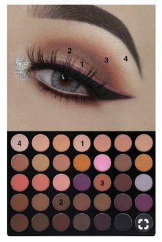 Natural Eye Makeup, Eye Makeup Steps, Eyebrow Makeup, Day Makeup, Kiss Makeup, Makeup For Brown Eyes, Makeup Goals, Makeup Inspo, Beauty Makeup