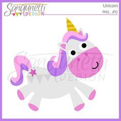 Unicorn clipart horse clipart fantasy clipart by SanqunettiDesigns