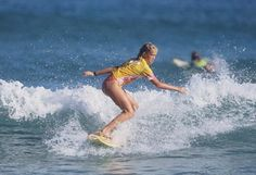 Bethany Hamilton before her shark attack.  A great role model for girls.
