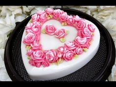 How to make Heart Birthday Jelly Cake with Coconut Milk Jelly I How To Jelly - YouTube Milk Jelly, Jelly Hearts, Jelly Cake, Coconut Milk, Panna Cotta, Birthday Cake, Ethnic Recipes, Desserts, How To Make