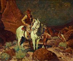 I have a soft spot in my heart for vintage western art.  JIM NORTON (American, b.1953)  Night Rider, 1979