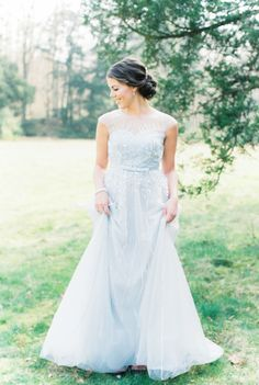 Gorgeous 'Something Blue' gown: http://www.stylemepretty.com/2015/06/05/elegant-something-blue-netherlands-wedding-inspiration/ | Photography: Anouschka Rokebrand - http://www.anouschkarokebrand.com/