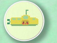 Yellow Submarine. Cross Stitch PDF Pattern