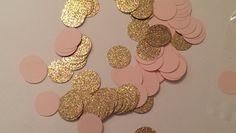 Rosa und Gold Konfetti-Tabelle Scatter von LaVignesLilMiracles