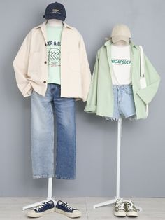 Fresh looking styles Fashion Couple, Cute Fashion, Girl Fashion, Fashion Outfits, Kpop Outfits, Cute Outfits, Matching Couple Outfits, Lolita, Fashion Design Sketches