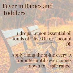 doterra essential oils baby toddler children fever lemon