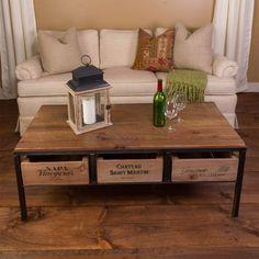 Vino Vintage Coffee Table - Wine Enthusiast