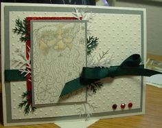 Vintage Santa Christmas by ShariEric - Cards and Paper Crafts at Splitcoaststampers Create Christmas Cards, Merry Christmas Happy Holidays, Vintage Christmas Cards, Handmade Christmas, Holiday Cards, Santa Christmas, Scrapbooking, Scrapbook Cards, Mom Cards