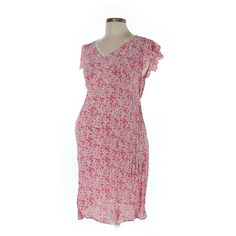 Pre-owned Motherhood Casual Dress Size 12: Pink Women's Dresses ($17) ❤ liked on Polyvore featuring dresses, pink, pre owned dresses, motherhood maternity dresses, pink day dress, preowned dresses and pink dress