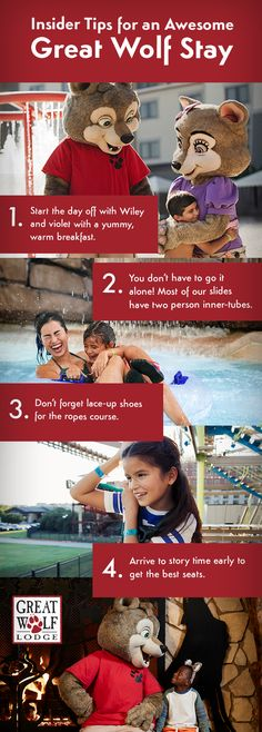 Great Wolf Lodge is the largest family of indoor water parks resort hotels. Plan your fun family vacation & getaway with your kids at one of our 17 water parks across the U. Best Family Vacations, Vacation Places, Vacation Destinations, Vacation Trips, Dream Vacations, Vacation Spots, Family Travel, Vacation Ideas, Indoor Water Park Resorts