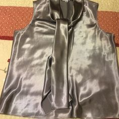 Gray Nine West Top Shimmery & gorgeous! Nine West Tops Blouses