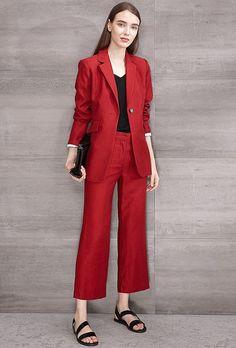 #AdoreWe Few Moda, Minimalistic Fashion Brands Online - Designer Few Moda Fashion Burgundy Blazer Suit TP1416 - AdoreWe.com