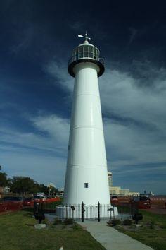 Biloxi's 1848 lighthouse in Mississippi
