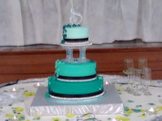 """Another Trend of the Millineum is Different Colors of Icing.  By """"Custom Cakes"""""""