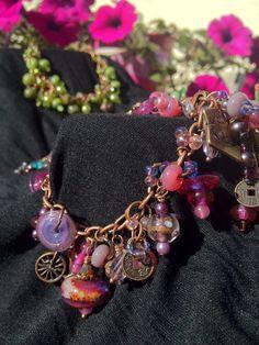 Boho Bling  Chunky Charm Bracelet  Lavish by oldredmaredesigns, $85.00