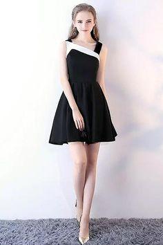 91b8a1935b28 Beautiful Halter Spandex Sleeveless Black Short Mini Homecoming Little  Black Dress ItemYHC0004F | Homecoming/Graduation Dress | Dresses, Homecoming  dresses, ...