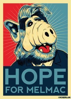 Obama Style Poster - Alf                                                                                                                                                     Más