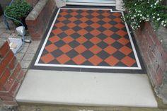 Victorian, Renovations, Front Path, Victorian Tiles, Tile Floor, Contemporary Rug, Front Garden, Home Decor, Exterior