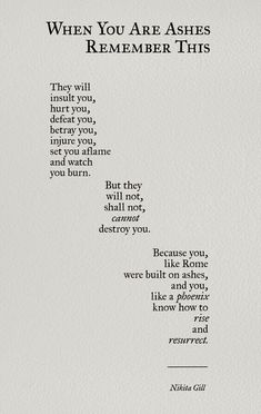 New Quotes Poetry Thoughts Nikita Gill 23 Ideas Poem Quotes, Words Quotes, Wise Words, Motivational Quotes, Inspirational Quotes, Sayings, Qoutes, Tattoo Quotes, Poem Tattoo