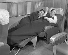 With today's lie-flat beds in first and business class, not all that much has changed since 1949 on a KLM flight.
