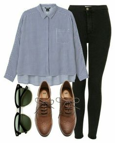 - A fashion look from August 2015 by laurenmboot featuring Monki, Topshop, H&M and Ray-Ban Casual Work Outfits, Mode Outfits, Work Attire, Work Casual, Chic Outfits, Trendy Outfits, Fall Outfits, Fashion Outfits, Womens Fashion