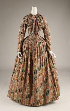 Morning dress American ca. 1840 cotton
