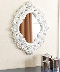 This White Rosen Wall Mirror is perfect! #zulilyfinds