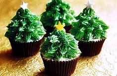 pokey little cupcake christmas trees