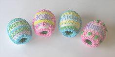 personalized sugar eggs