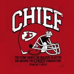 Christian sports parody t-shirt design for Chiefs fans. www.kjvapparel.com.