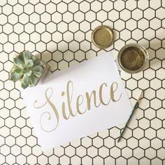 Silence is Golden Art From the PaintSewGlueChew instagram feed.