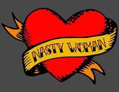Hillary Clinton Nasty Woman Tattoo by shaggylocks Tattoo Flash Art, Body Mods, Tattoos For Women, Classic T Shirts, Fabric, Prints, Feminism, Equality, Sew