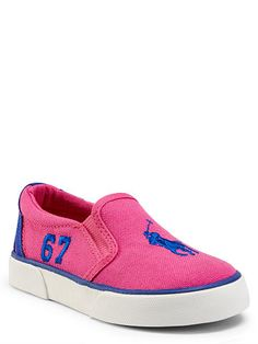 Victory Canvas Slip-On Sneaker - Toddler Preschool Shoes - RalphLauren.com