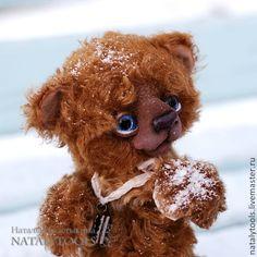 Sweety. Свити мишка. Коллекционный медведь тедди. - коричневый,мишка тедди, teddy, bear, arttoy, artist, craft, chocolate, sweet