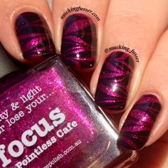 piCture pOlish 'Focus' water marble mani art by Mucking Fusser!  Buy on-line now:  www.picturepolish.com.au