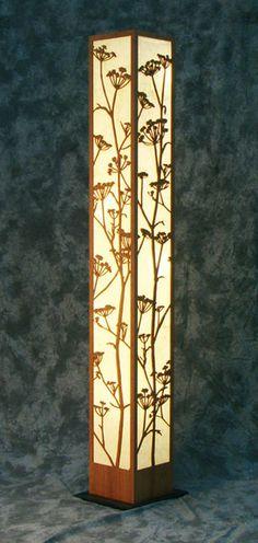 Floor Lamp - Decorative Laser Cut Wood Floor Lamp