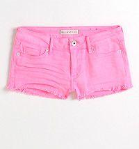 Fray Hem Neon Shorts  #bullheadblack #pacsun