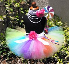 Candyland Dreams - Extra Full Adult or Teen Neon Rainbow Tutu - Custom Sewn 12'' Long Tutu - any size up to a 34'' waist - Tutu Only. $62.00, via Etsy.