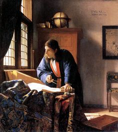 Jan Vermeer - The Geographer  at Frankfurt Stadelsches Kunstinstitut