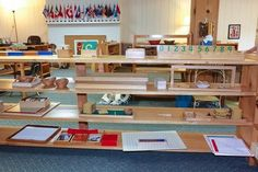 Where everything goes on the Montessori shelves - SP.