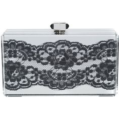 Judith Leiber Couture Boudoir rectangle clutch ($2,630) ❤ liked on Polyvore featuring bags, handbags, clutches, metallic, judith leiber handbags, black and silver handbags, metallic clutches, judith leiber purses and metallic purse