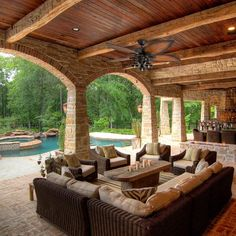 Patio design - Prominence Home Beauxregard Tropical 52 Aged Bronze Ceiling Fan, Mocha Blades, 3 Speed Remote, Brown – Patio design Style Toscan, Casa Hotel, Plafond Design, Design Living Room, Design Bedroom, Bedroom Ideas, Building A Porch, Mediterranean Home Decor, House With Porch